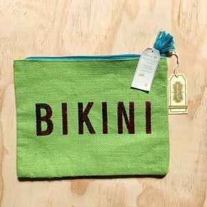 MudPie Bikini Dazzle Natural Makeup Bag